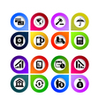 Arrow sign icon set vector image