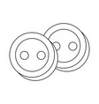 buttons for clothes vector image