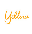 Cartoon font letter Yellow lettering vector image