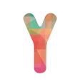 Colorful alphabet Y vector image