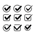 confirm icon vector image