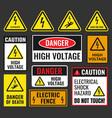 danger high voltage signs vector image