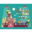 Elves make Christmas and New Year gifts vetor vector image
