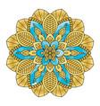 golden floral mandala vector image