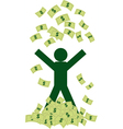 Rich man with money vector image