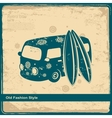 Retro Travel bus vector image