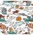Underwater colorful engraving tropic pattern vector image