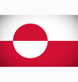Flag of Greenland vector image