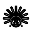 native american character icon vector image