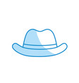silhouette elegant hat to use in the head vector image