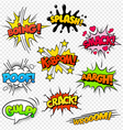 Comic Sounds set2 vector image vector image