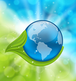 Planet Earth with green leaves vector image vector image