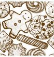 2302 cookies background vector image