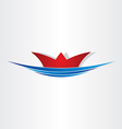 Ship on sea sailing symbol vector image