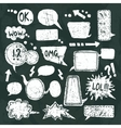 Bubble speech icons set chalkboard vector image vector image