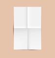 White Folded Paper Sheet vector image vector image