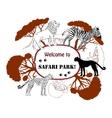 Background with savanna animals-05 vector image