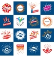 set of logos for fireworks vector image vector image