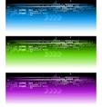 abstract vibrant banners vector image vector image