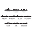 Silhouettes of the USA cities 3 vector image