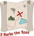 X Marks Spot vector image