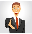 business man extending his hand for handshake vector image