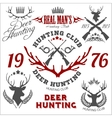Deer hunting Set of badges labels logo design vector image