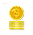 Gold money coin icon vector image