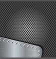 iron perforated background with metal brushed vector image