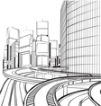 sketch of the silhouette of the city vector image