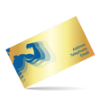 Business card for gym and fitness vector image