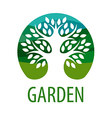 Round logo tree for the garden vector image