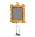 Wooden school board vector image
