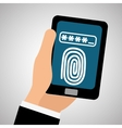 Security system design warning and technology vector image