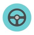 Steering wheel flat icon vector image