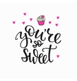 Baby Family and Romantic love lettering vector image