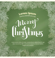 chalk merry christmas background vector image