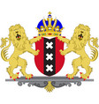 coat of arms of amsterdam of netherlands vector image