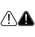 Danger warning attention hazard sign icon vector image