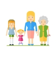 generations of womens vector image