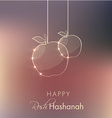 rosh hashanah holiday greeting vector image