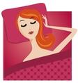 sleeping young girl character cartoon woman vector image