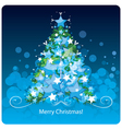 Christmas tree greetings card vector image vector image