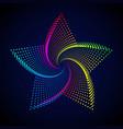 abstract rainbow star vector image