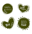 doodle sale tags organic banners set love organic vector image