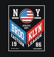 Brooklyn sport vector image