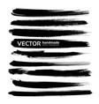 abstract big black long ink strokes set isolated vector image vector image