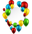 Celebrate frame background with balloons vector image