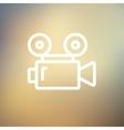 Cinematography thin line icon vector image