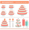 Infographic Wedding Cake Servings vector image